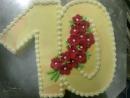 Torta v tvare čísla 1