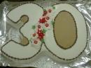 Torta v tvare čísla 2