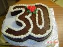 Torta v tvare čísla 3