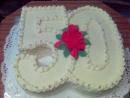 Torta v tvare čísla 5