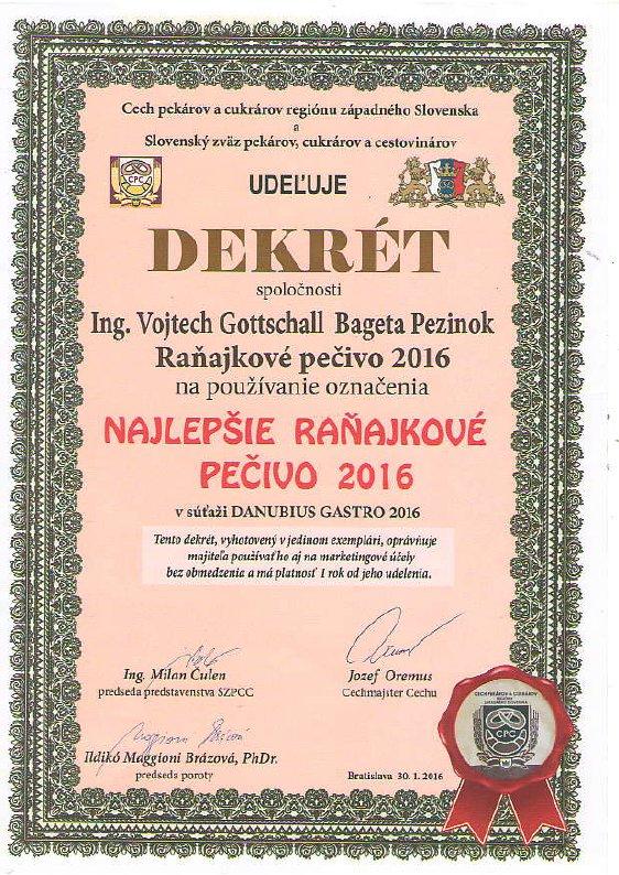 Vystava Danubius Gastro 2016 - Ranajkove pecivo