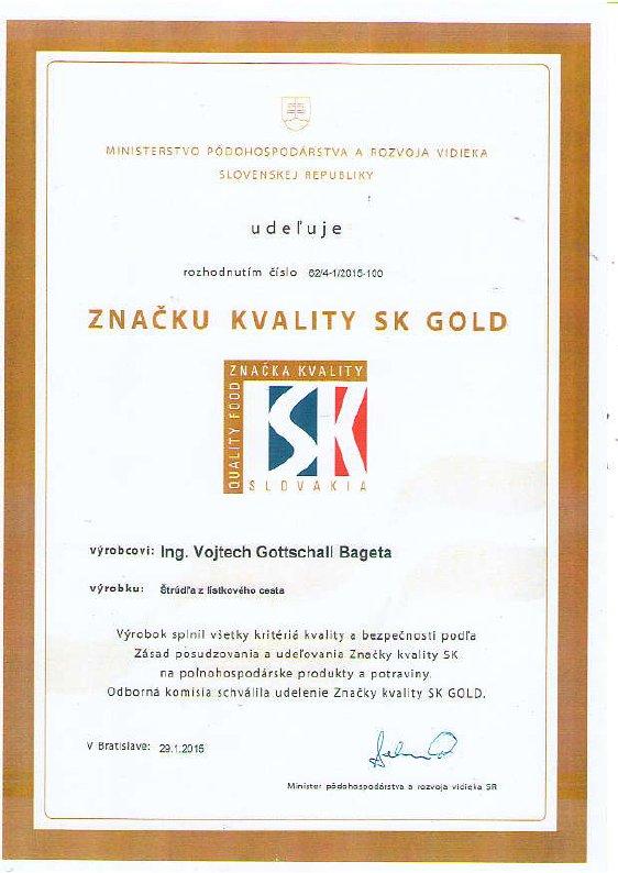 Znacka kvality SK GOLD - Bageta Pezinok